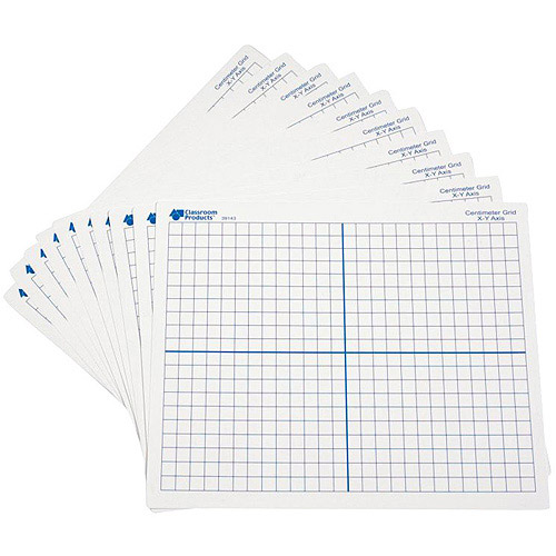 Learning Resources Dry Erase Double-Sided X-Y Axis Mats