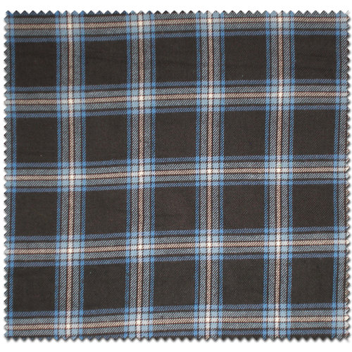 Medium Plaid Flannel Fabric, Blue/Black