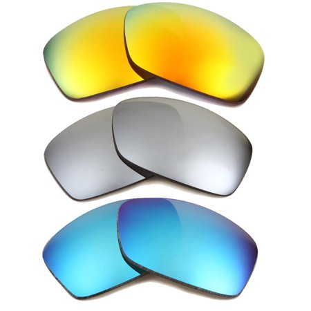 defc58381be HIJINX Replacement Lenses Yellow Blue Silver by SEEK fits OAKLEY Sunglasses  - Walmart.com