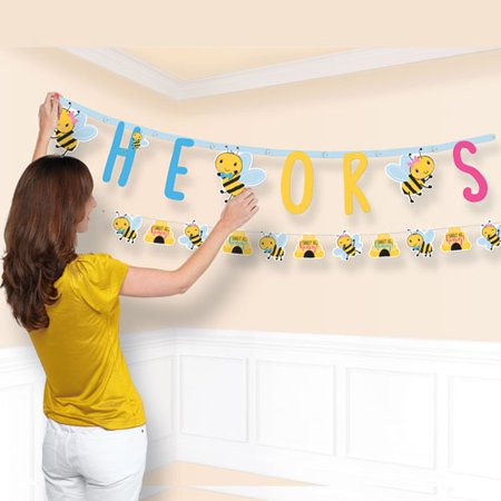 Baby Shower 'What Will it Bee?' Jumbo Letter Banner Kit (1ct)](Personalized Baby Shower Banner)