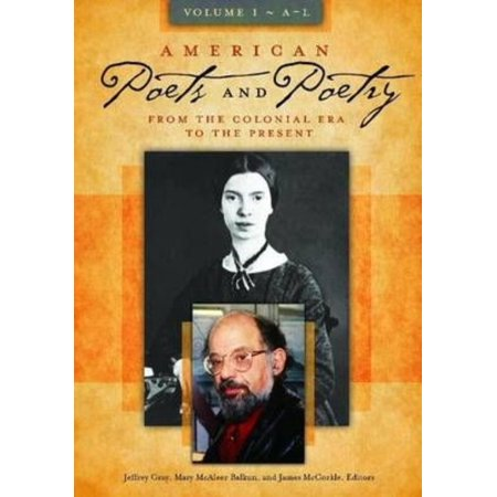 American Poets And Poetry  From The Colonial Era To The Present