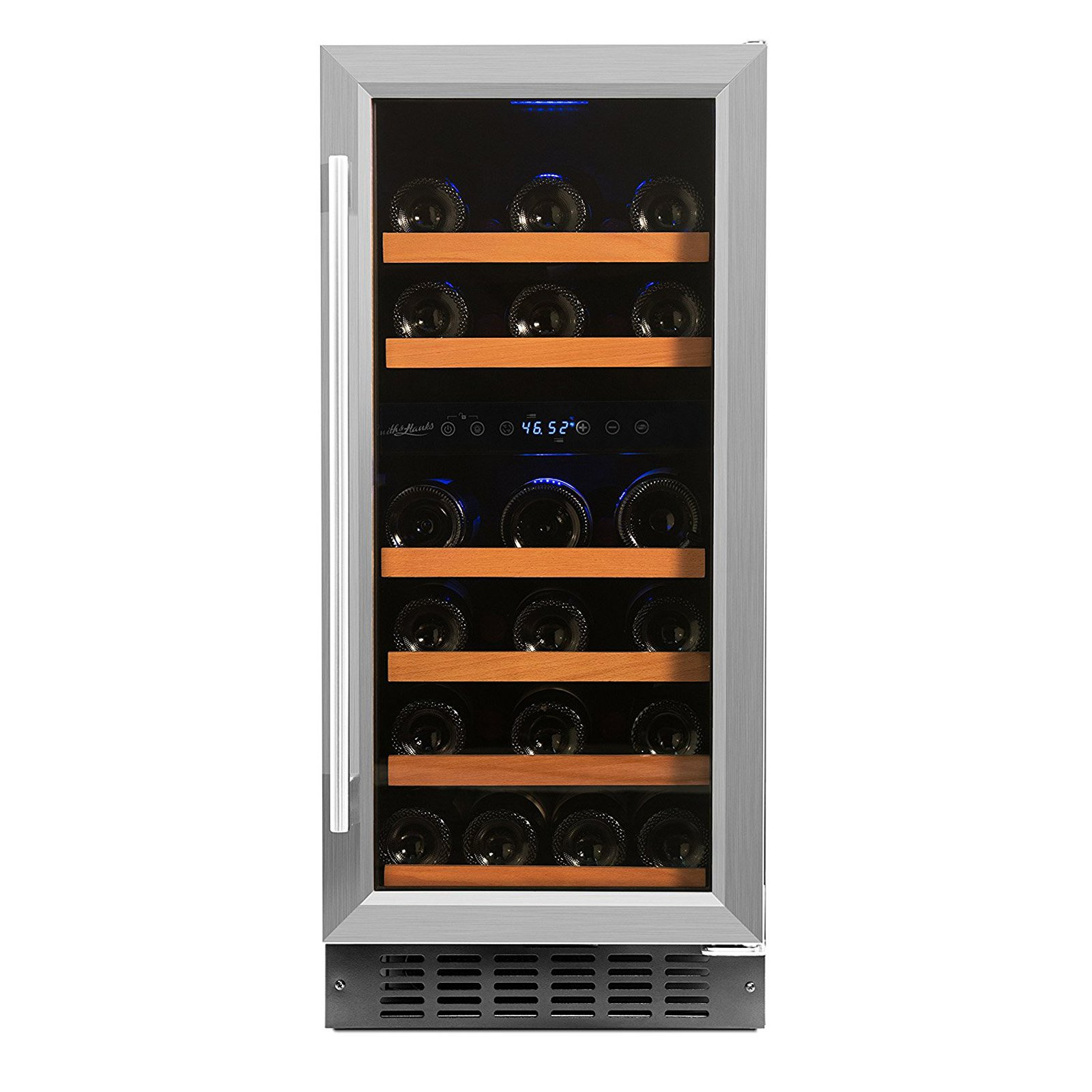 Smith & Hanks 32-Bottle Dual Zone Built-In or Free Standing Wine Refrigerator