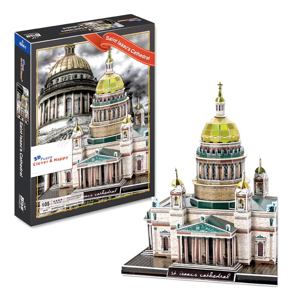 Bisontec Saint Isaacs Cathedral 3D Puzzle, 105 Pieces by Bisontec