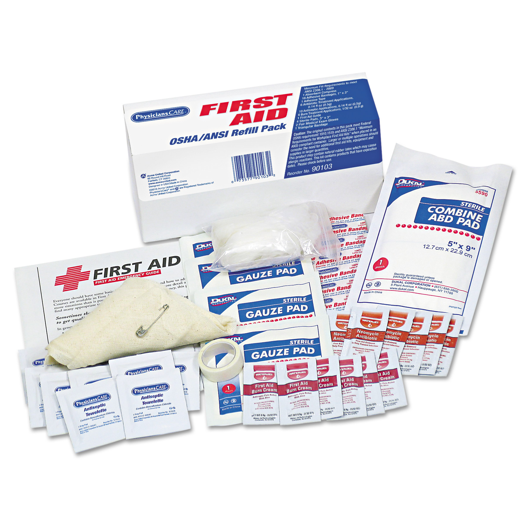 PhysiciansCare by First Aid Only OSHA First Aid Refill Kit, 48 Pieces Kit by ACME UNITED CORPORATION