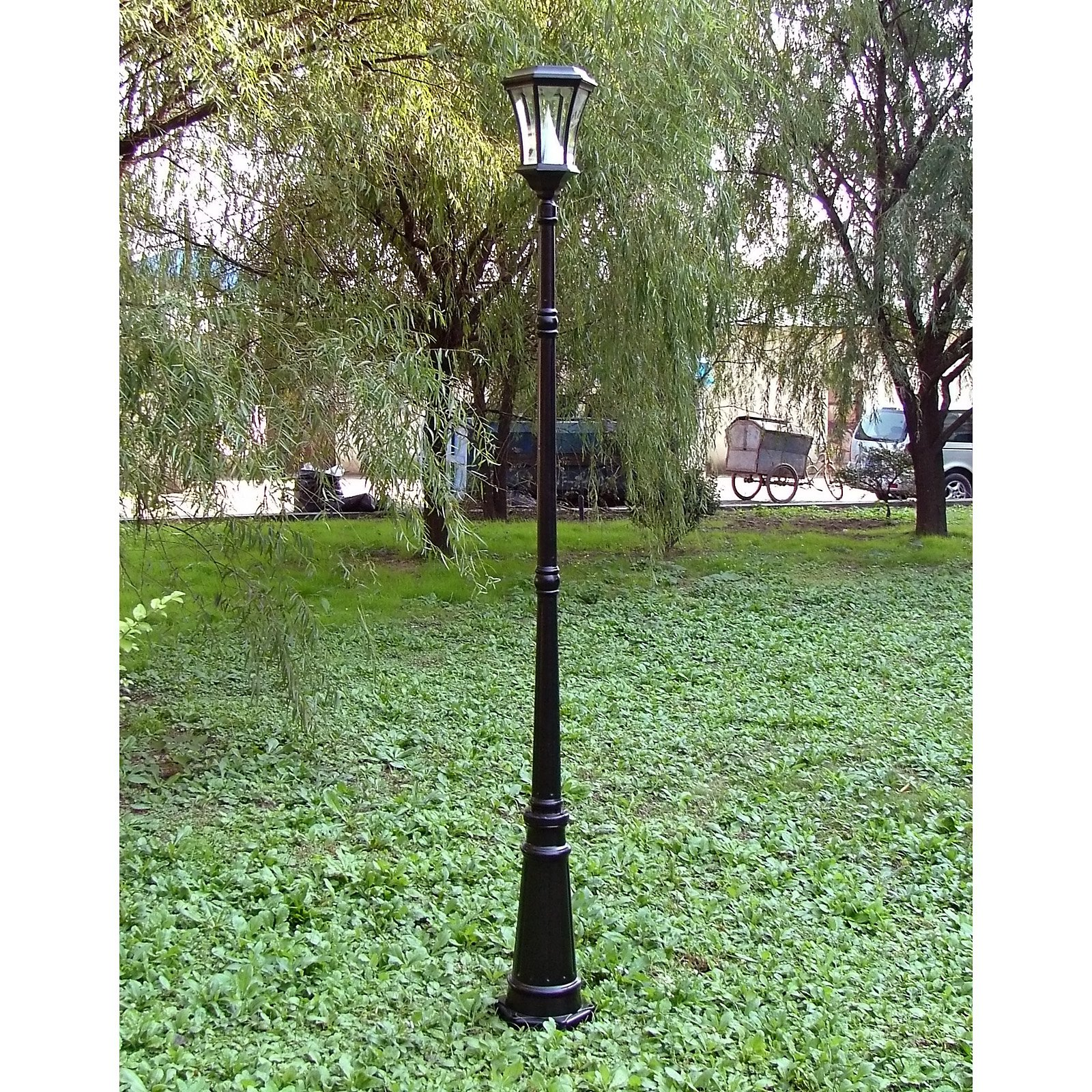 Lovely Gama Sonic Single Solar Lamp Post