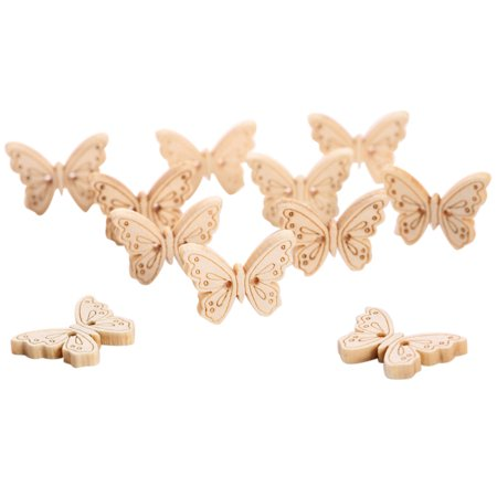 Anime Button (12pcs/ Package Wooden Cartoon Animal Butterfly Buttons)