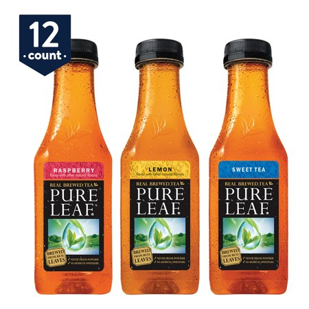 Pure Leaf Iced Tea, Sweetened Variety Pack, Real Brewed Black Tea, 18.5 oz Bottles, 12 Count