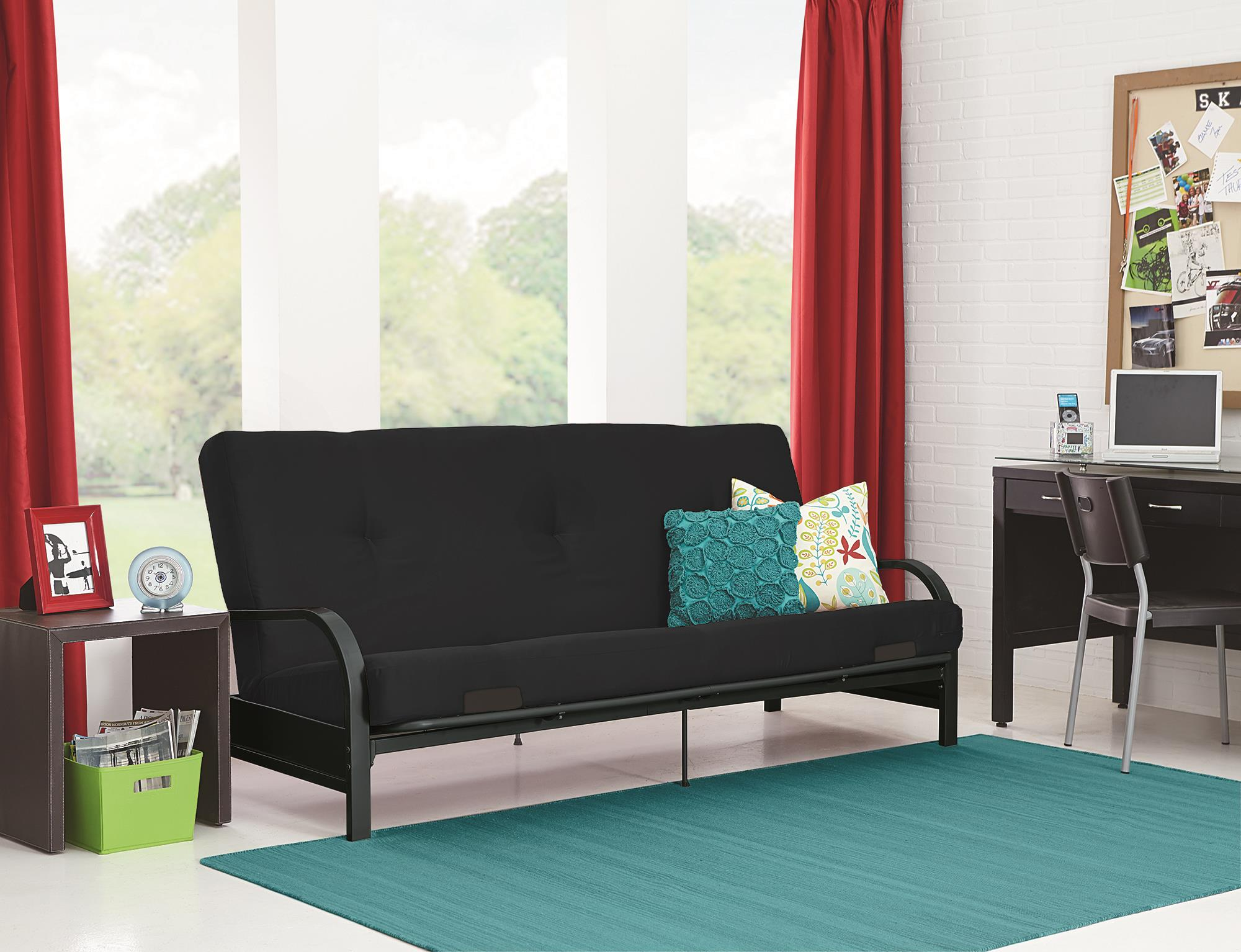 Mainstays Black Metal Arm Futon With