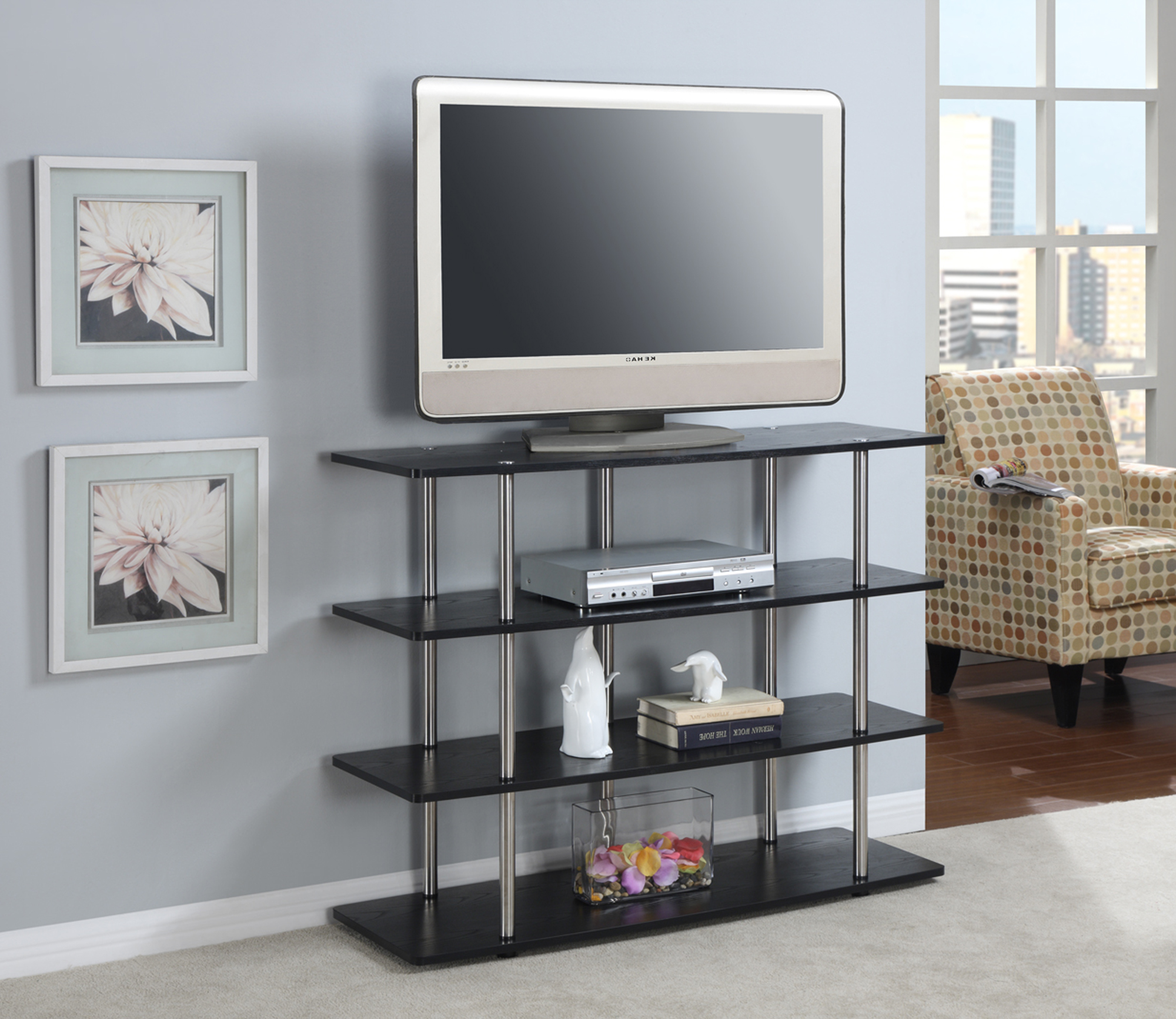 Convenience Concepts Designs2go Xl Highboy Tv Stand Walmart Com
