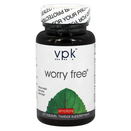 Image of Worry Free 60 Herbal Tablets - 1000 mg ea. Worry ManagementTM Natural Relief for Worry, Stress & Tension