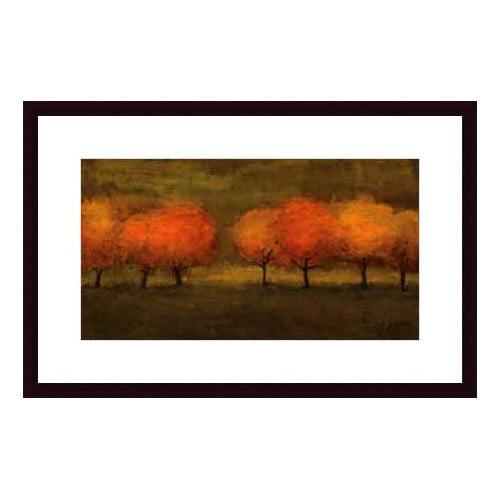 Printfinders Red Trees II by Seth Winegar Framed Painting Print