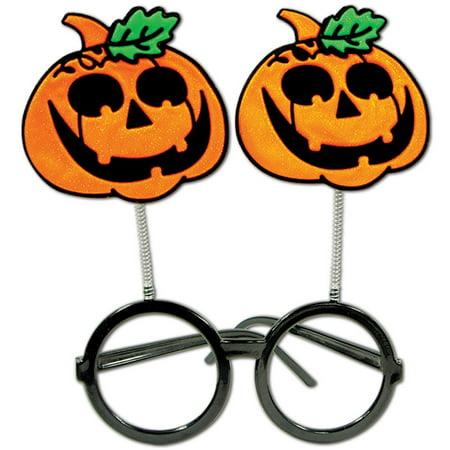 Club Pack of 12 Halloween Jack-O-Lantern Bopper Party Favor Eye Glasses