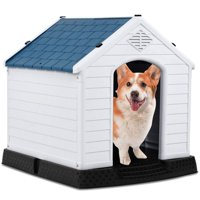 Up to 30 lbs Waterproof Non-Toxic PP Dog Cat Kennel Puppy House Outdoor Pet Shelter Small
