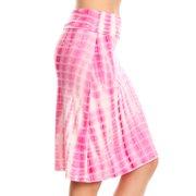 Flowy Skirts for Women Knee Length a Line High Waisted Flared Skirt - USA