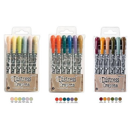 Ranger Tim Holtz 18 Distress Crayons Bundle Sets 8, 9, 10 - Adult Crayons