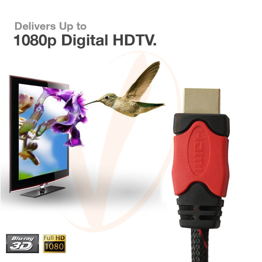 LivEditor 30FT HDMI to HDMI Cable 1080p 3D,Gold Plated Cord For DVD Player/Mac/Xbox,30 Ft - image 5 de 7