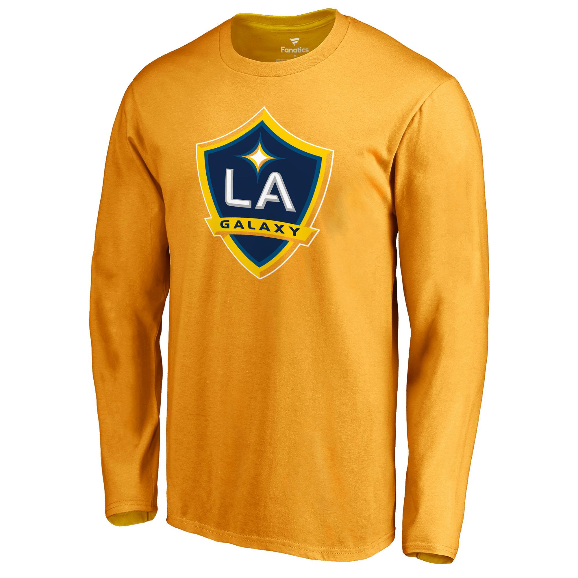 ba2c570add2 Zlatan Ibrahimovic LA Galaxy Fanatics Branded Backer Long Sleeve T-Shirt -  Gold
