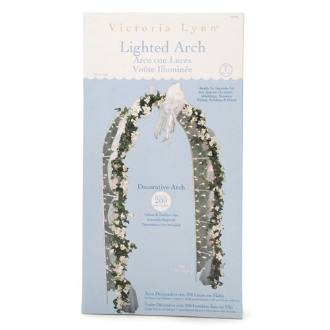 Victoria Lynn Wedding Arch - White - 200 Lights - 96 inches