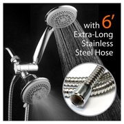 DreamSpa Ultra-Luxury 36-Setting 3-Way Shower Combo with Extra-Long 6-foot Stainless Steel Hose