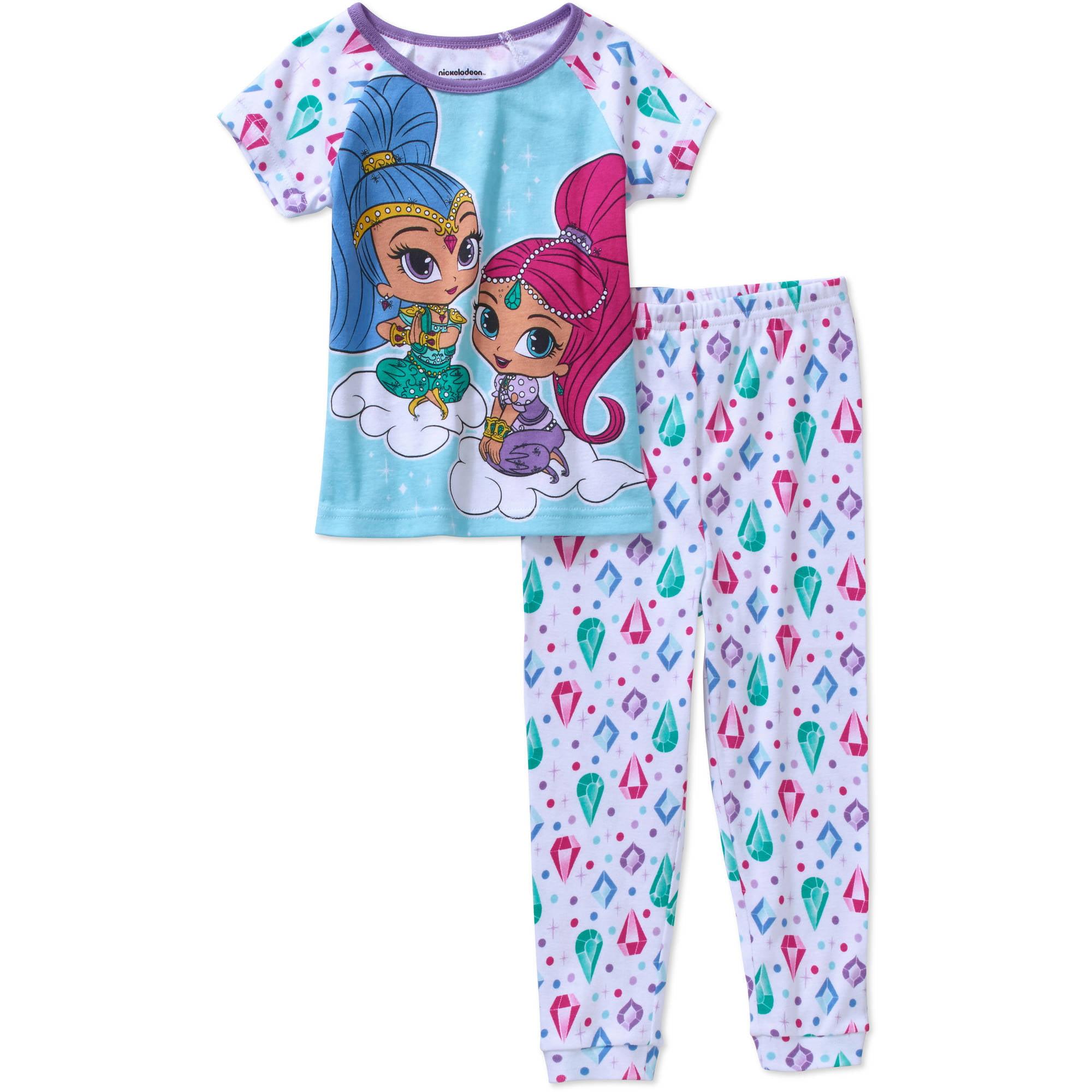 Shimmer And Shine Toddler Girls' Licensed Cotton Pajama Sleepwear Set