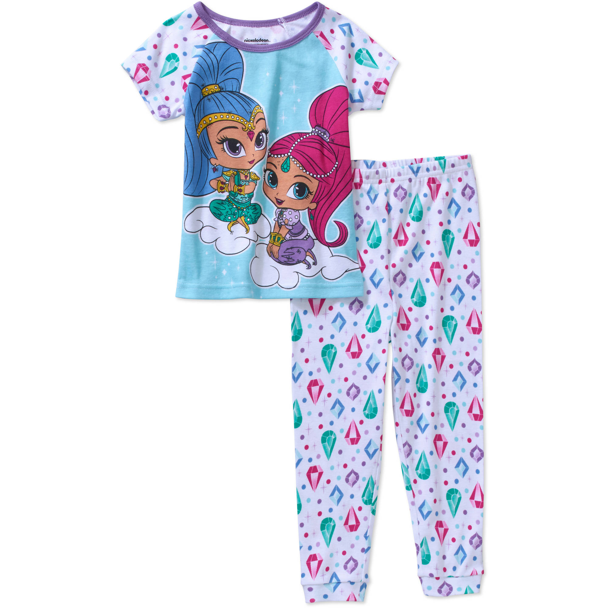 Shimmer And Shine Toddler Girls' Licensed Cotton Pajama Sleepwear Set