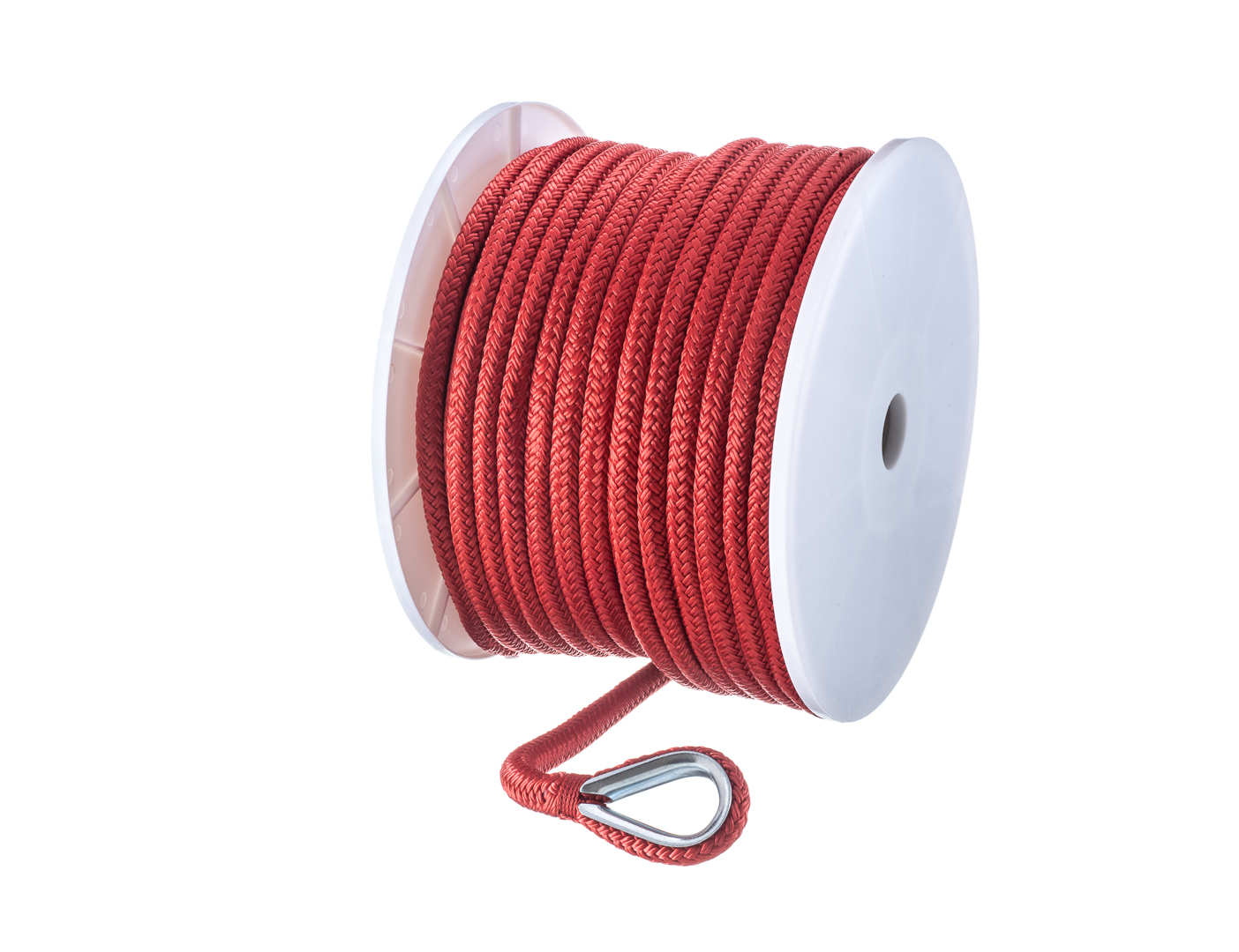 "ANCHOR ROPE DOCK LINE 1//4/"" X 100/' BRAIDED 100/% NYLON RED MADE IN USA"