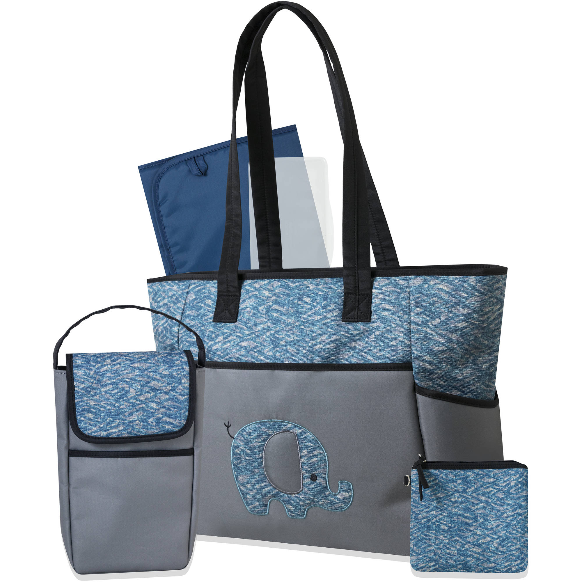 Tender Kisses Marina 3 Piece Diaper Bag Set with Bonus Bottle Bag