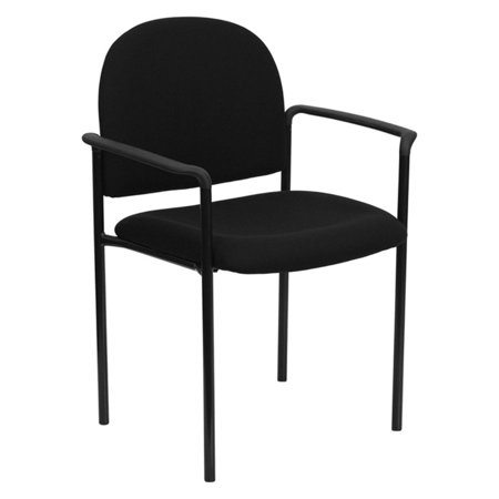 Padded Stackable Steel Side Chair With Arms