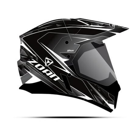 Zoan Synchrony Dual Sport Helmet  Hawk  Matte White  Sm