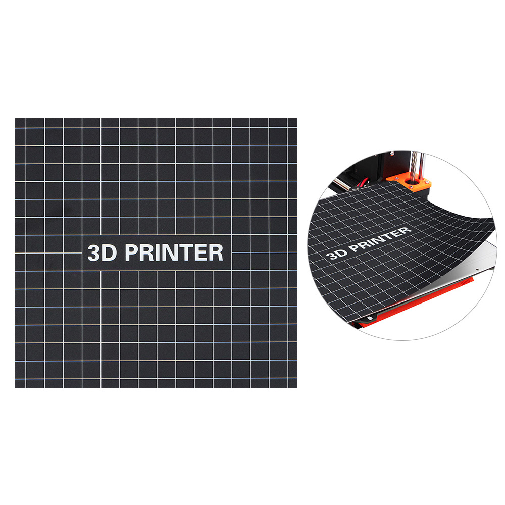Andifany 3D Printer Removable Fiberglass Build Plate Heatbed Add Heatbed Sticker Build Plate For Ender-3 Size 235Mm