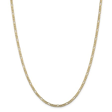 14K Yellow Gold 3mm Concave Open Figaro Chain - image 5 de 5