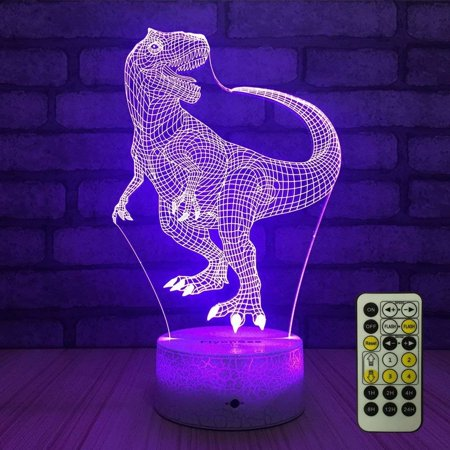 Night Lights for Kids Bedside Lamp 7 Colors Change Remote Control with Timer -