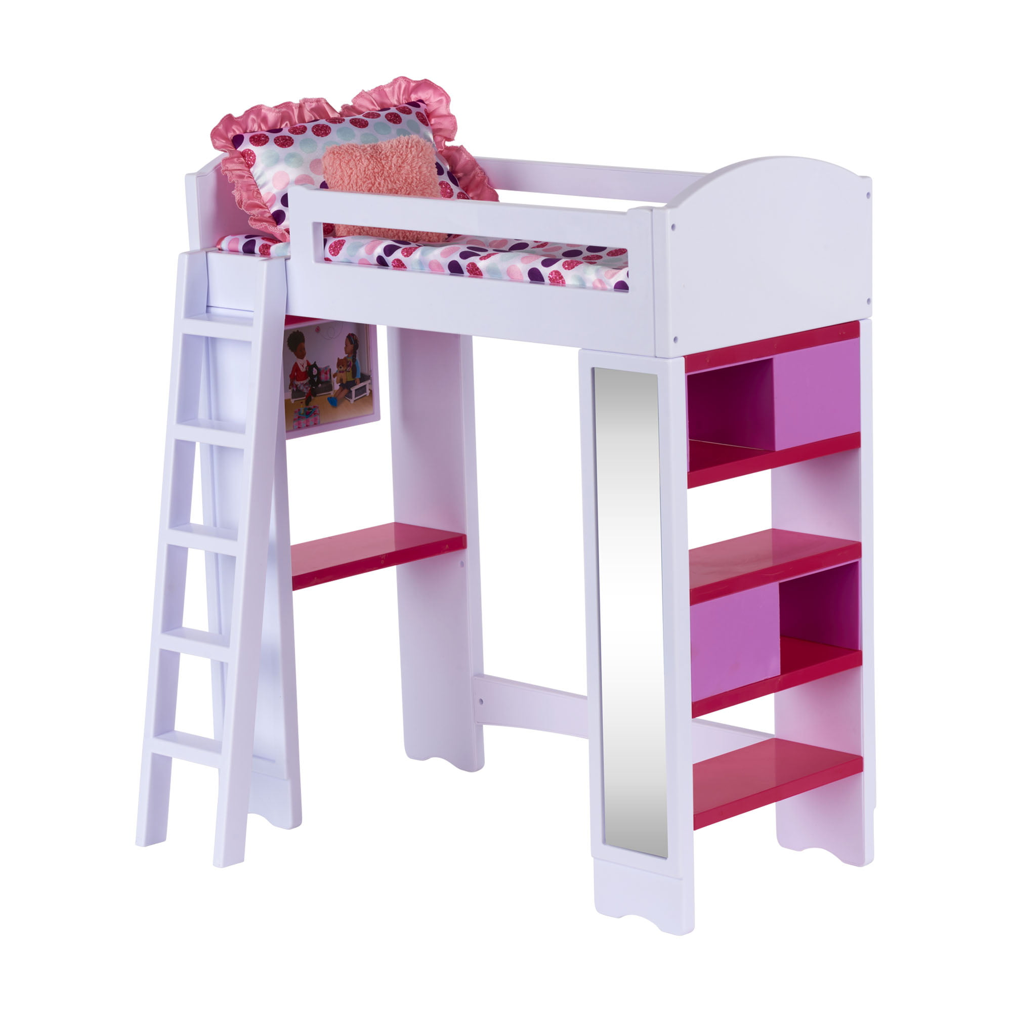Picture of: My Life As Loft Bed Play Set For 18 Dolls 6 Pieces Walmart Com Walmart Com