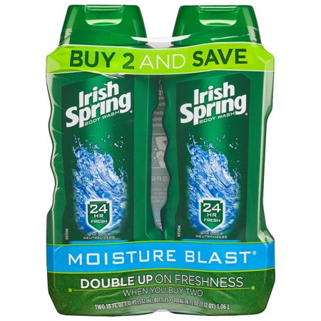 - Irish Spring Moisture Blast Moisturizing Body Wash, 18 Oz, 2 Ct