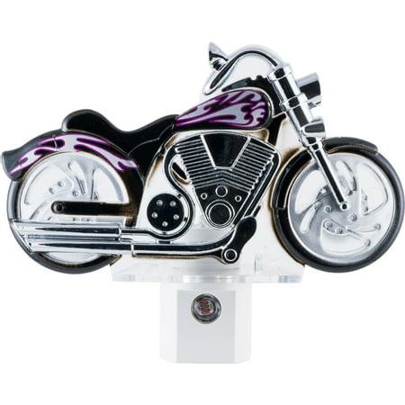 - GE Motorcycle LED Plug-In Night Light, Light Sensing, 10904