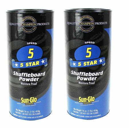 Twin Pack of Sun-Glo #5 Speed Shuffleboard Powder - Shuffleboard Accessories