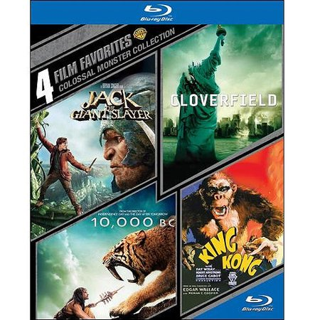 4 Film Favorites: Colossal Monster Collection - Jack The Giant Slayer / 10,000 B.C. / Cloverfield / King Kong (Blu-ray) (Widescreen)