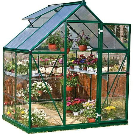 Palram Nature Series Hybrid Hobby Greenhouse, 6' x 4', Green