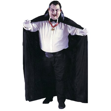 Morris Costumes Mens 72 Inches Nylon Satin Big Tall Adult Black Cape, Style (Tall Size Costumes)