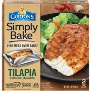 Gorton's Simply Bake Signature Seasoning Tilapia Fillets, 2 count