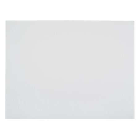 School Smart Railroad Board, 22 x 28 Inches, 6-Ply Thickness, White, Pack of 25