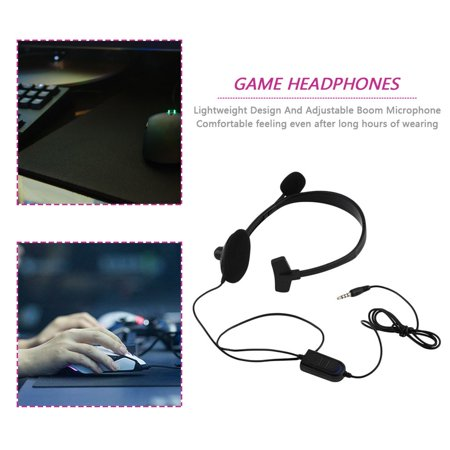 Black Wired Gaming Game Headset Earphone For Playstation PS4 With VOL Portable - image 6 of 8