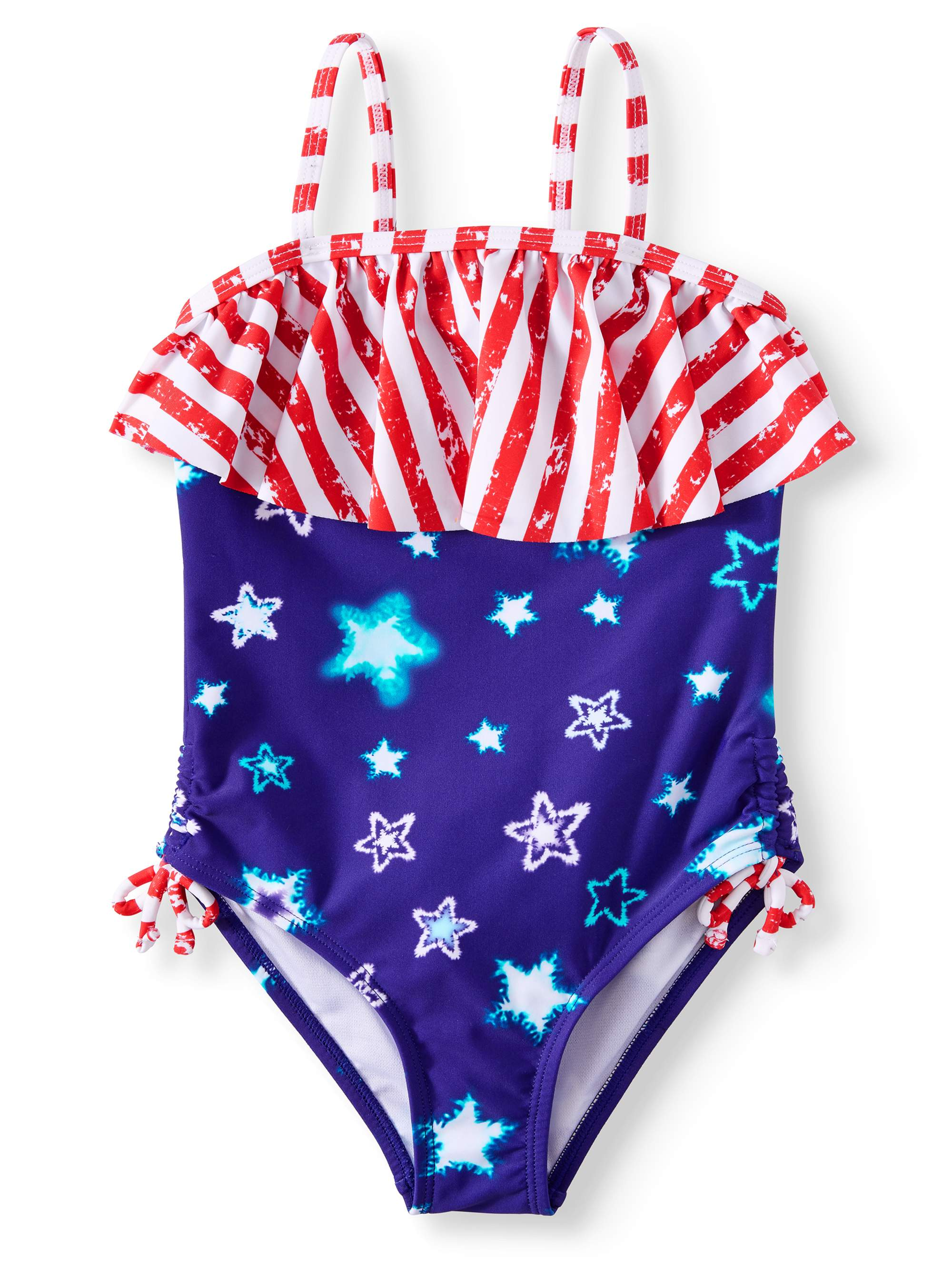 Americana Flounce One-Piece Swimsuit (Little Girls & Big Girls)