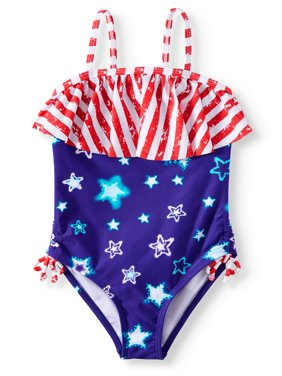 9638f59c0 Product Image Americana Flounce One-Piece Swimsuit (Little Girls & Big  Girls)