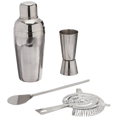 Estilo 4 Piece Stainless Steel Professional Tail Shaker And Bar Tool Set