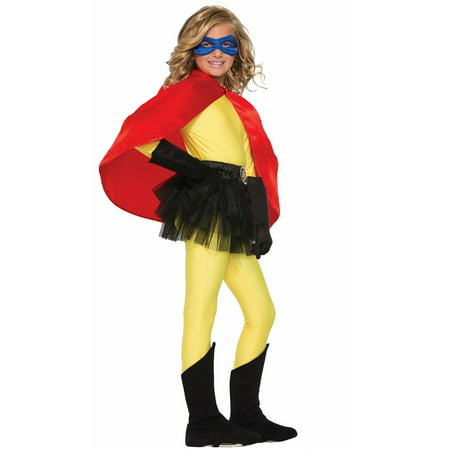 Red Child Cape Halloween Costume Accessory](Halloween Red Hooded Capes)