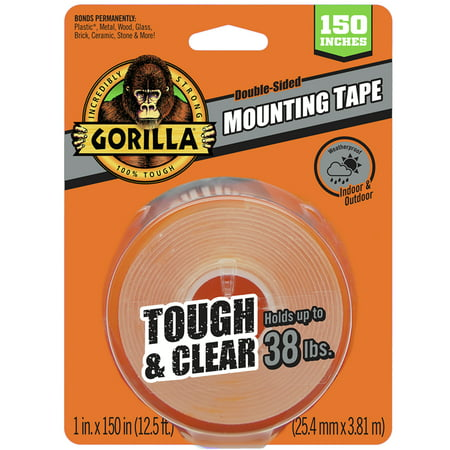 Gorilla Tough & Clear Mounting Tape XL 150in ()