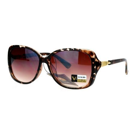 VG Eyewear Womens Jewel Buckle Hinge Butterfly Sunglasses Tortoise