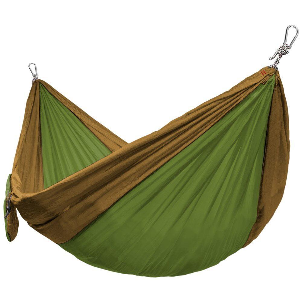 kids camping hammock, Single-wide Green parachute camping hammock portable