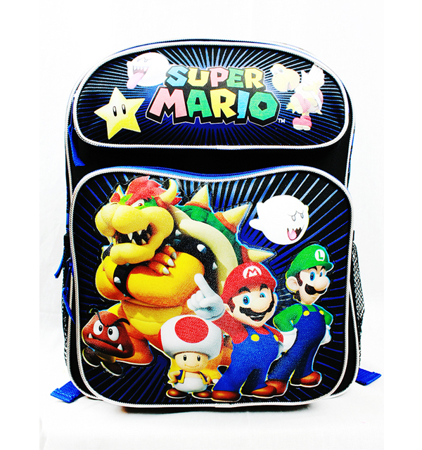 Medium Backpack - Nintendo - Super Mario Brothers and Friends New SD26778
